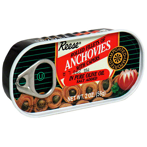 Reese Rolled Fillets Anchovies, 2 oz (Pack of 10)