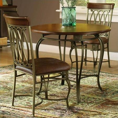 Hillsdale Montello 3-Piece Dining Set, Old Steel