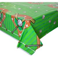 Baseball Plastic Party Tablecloth, 84 x 54in