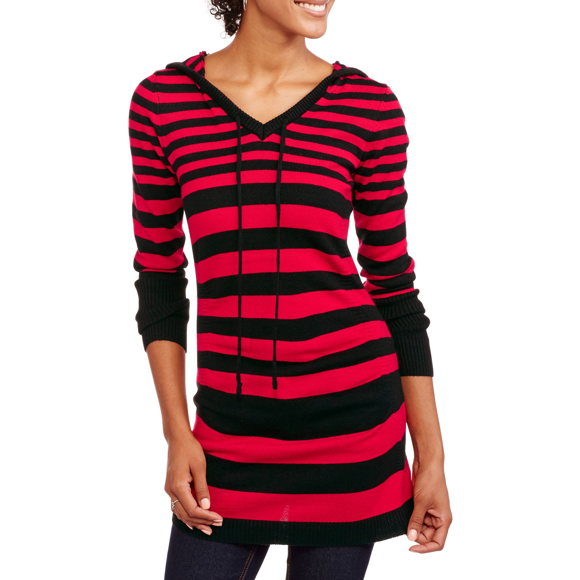 No Boundaries Juniors' Tunic Pullover Sweater Hoodie