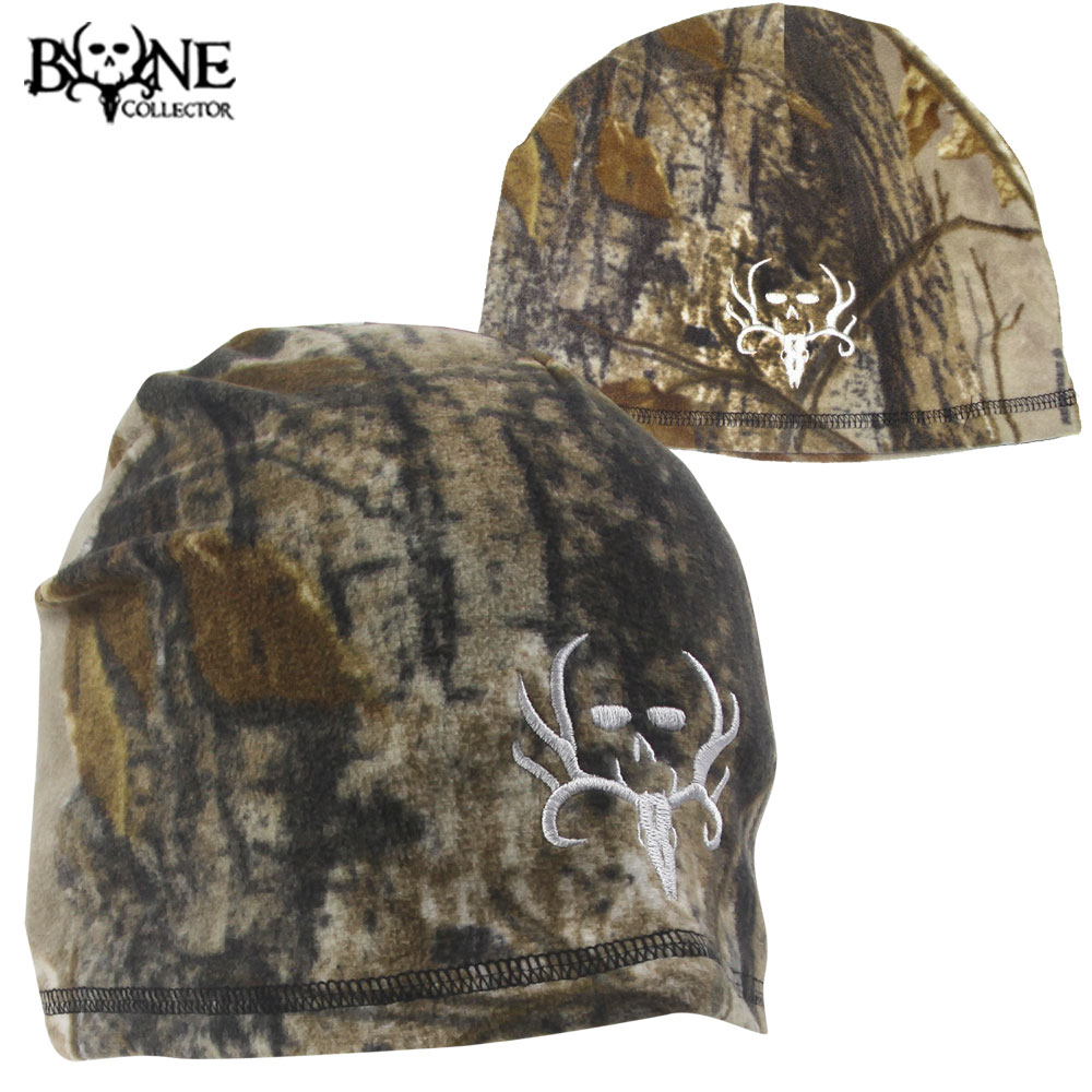 Bone Collector Single-Layer Beanie- RTAP/White