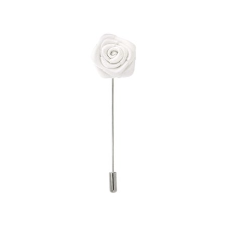 PinMart's Silk Flower Stick Boutonniere lapel Pins - Select your color