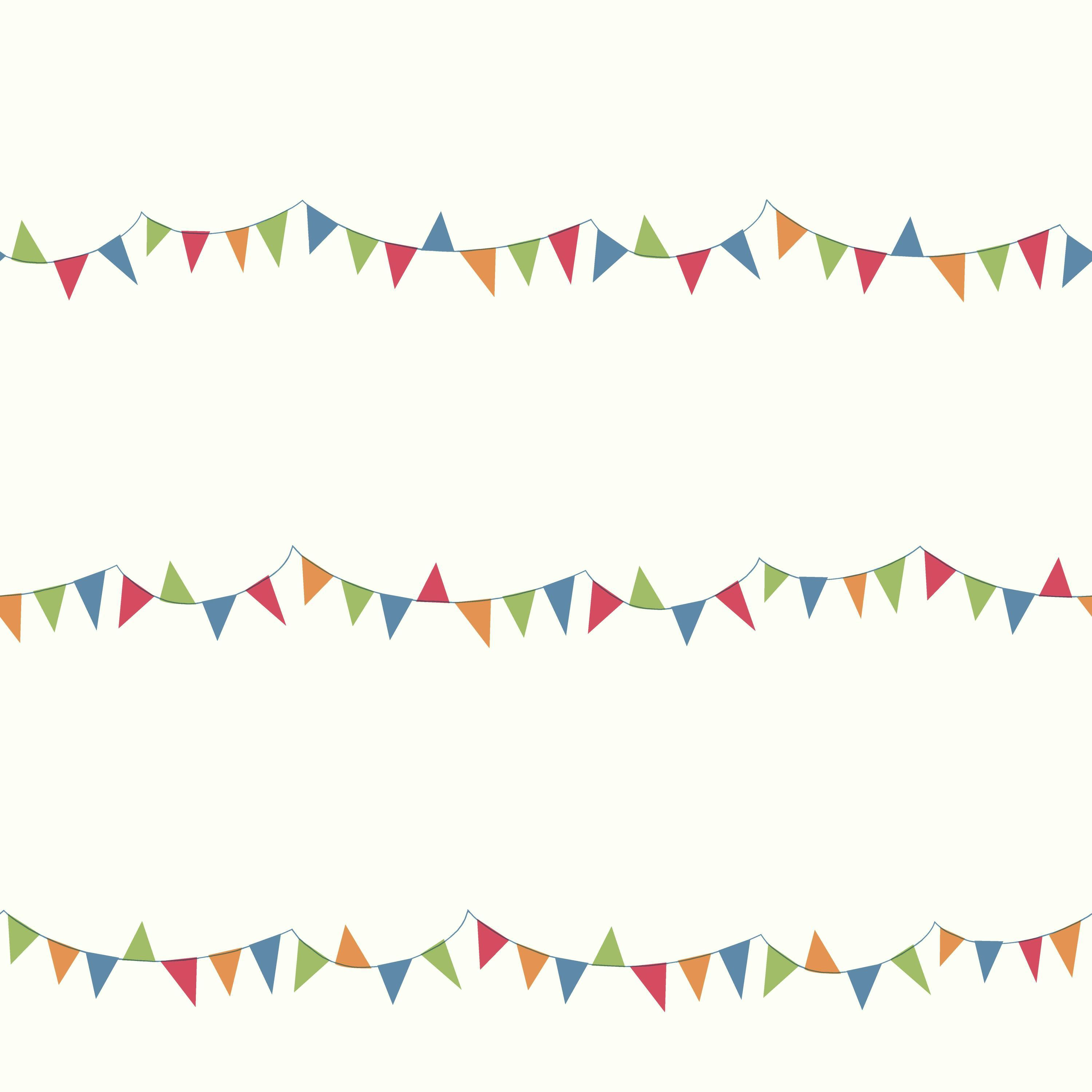 Growing Up Kids Big Top Pennants Removable Wallpaper