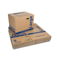 Large Recycled Kraft Moving Boxes 22L x 18W x 18H in