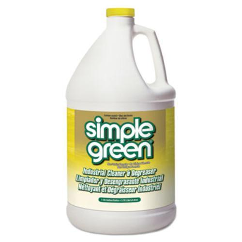 Simple Green 14010 Industrial Cleaner & Degreaser, Concentrated, Lemon, 1 Gal Bottle, 6/carton