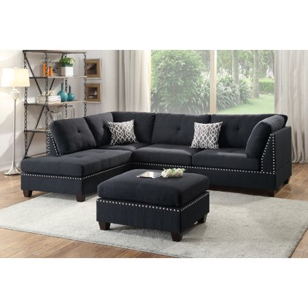 - Winston Porter Raelyn Reversible Sectional with Ottoman