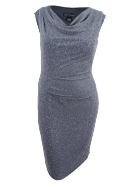 83bf319628fca Free shipping. Product Image Jessica Howard Women's Draped & Ruched Glitter  Dress