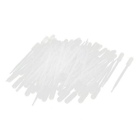 100 Pcs Disposable Clear Plastic 5ml Liquid Dropper Pasteur (Pipets Liquid)