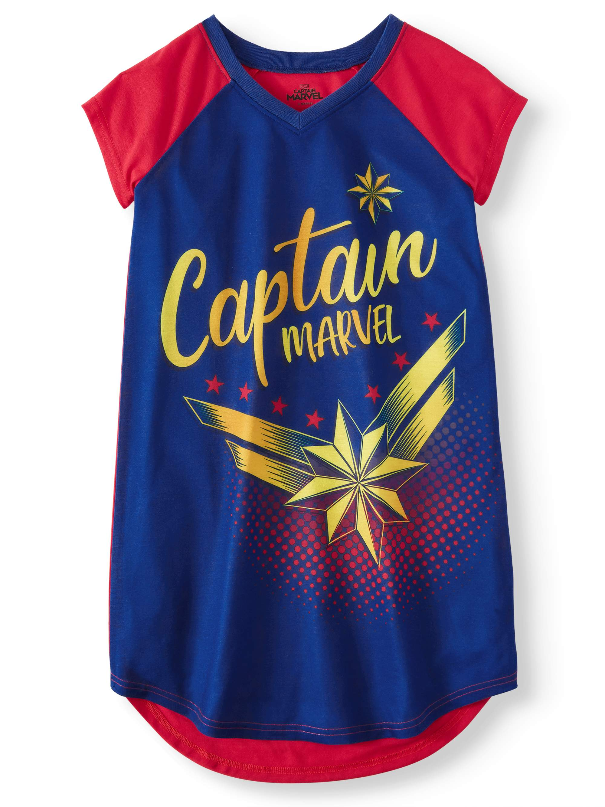 Girls' Captain Marvel Pajama Nightgown (Little Girl & Big Girl)