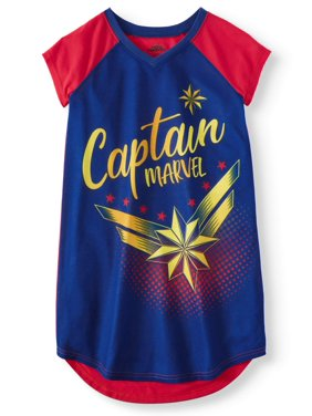 Product Image Girls  Captain Marvel Pajama Nightgown (Little Girl   Big ... bd41eba05