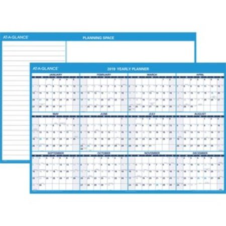 At a Glance PM300-28 At-a-glance Erasable Yearly Horizontal Wall Planner - Yearly - 48