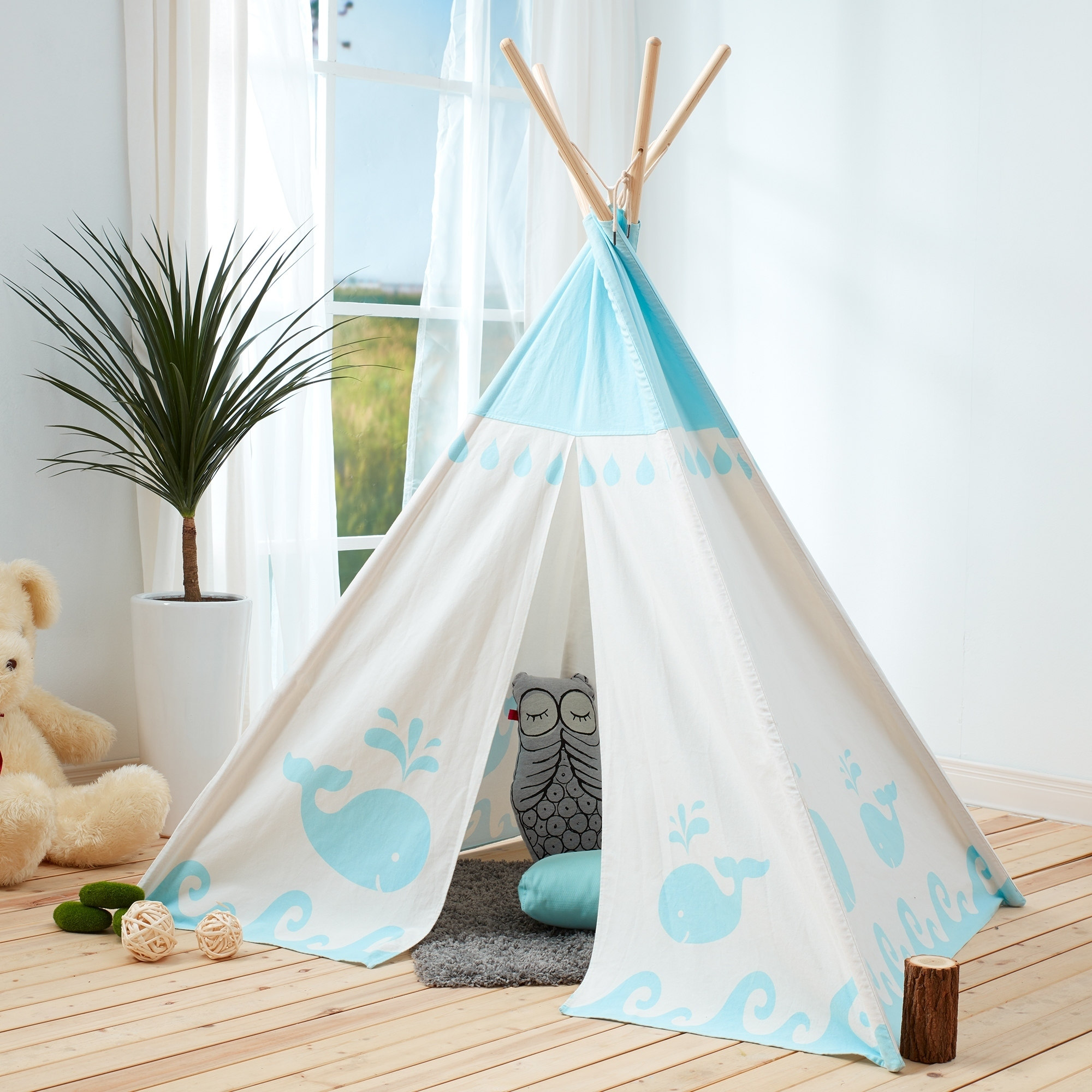 Teamson Kids Teepee Blue Whale by Teamson Design Corp.