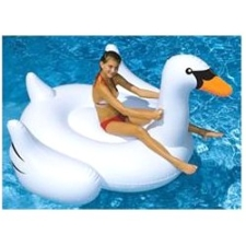 Swimline Giant Swan 75-in Inflatable Ride-On Pool Toy by Swimline, Corp