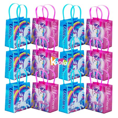Magical Unicorn Party Favor Goody Loot Gifts Candy Bags Assorted 12pack (Halloween Loot Bags Ideas)