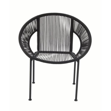 Cool Decmode 30 X 29 Inch Modern Matte Black Plastic And Metal Caraccident5 Cool Chair Designs And Ideas Caraccident5Info