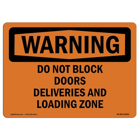 Usa Time Zone Display - OSHA WARNING Sign - Do Not Block Doors Deliveries And Loading Zone | Choose from: Aluminum, Rigid Plastic or Vinyl Label Decal | Protect Your Business, Work Site, Warehouse |  Made in the USA