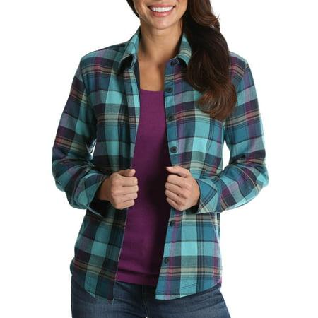- Lee Riders Women's Fleece Lined Flannel Shirt
