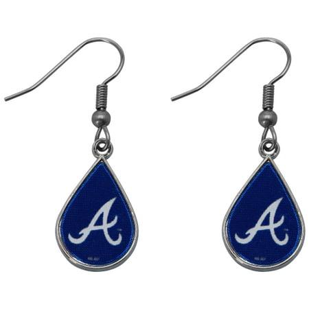 Atlanta Braves WinCraft Tear Drop Dangle Earrings - No Size (Atlanta Braves Earring)