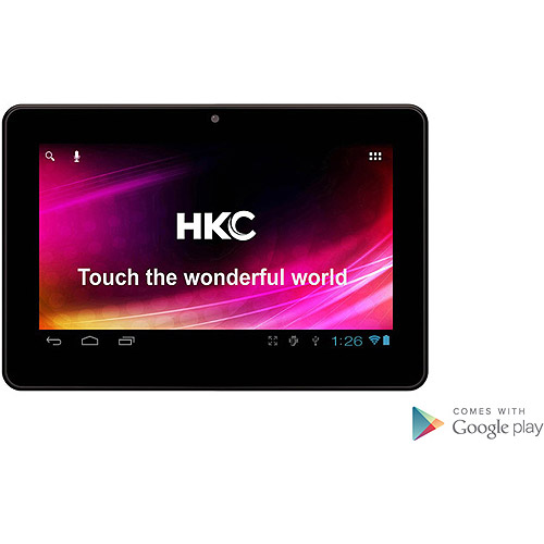 """HKC 7"""" Tablet Dual Core Processor with 8GB Memory and Google Mobile Services Black"""