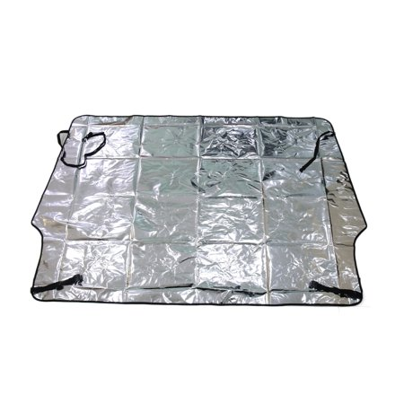 Foldable reflective insulation front window windshield sun for Window insulation rating