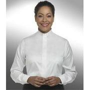 Clerical Shirt-Women-Long Sleeve Tab Collar-Size 18-White