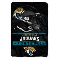 "NFL Jacksonville Jaguars Sideline 62 x 90"" Oversized Micro Raschel Throw Blanket, 1 Each"