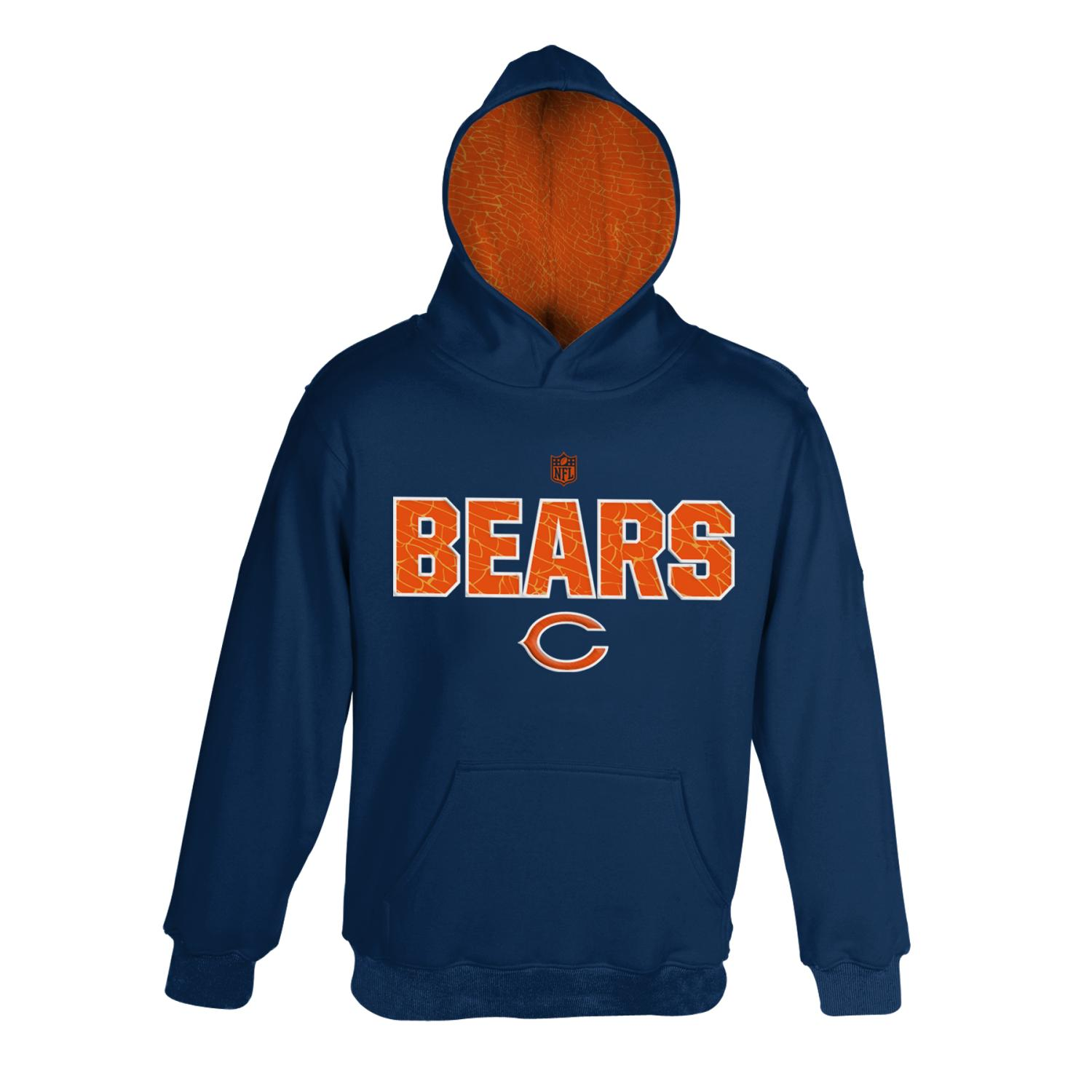 "Chicago Bears Youth NFL ""Flex"" Pullover Hooded Performance Sweatshirt"