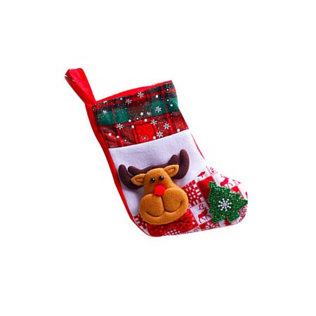 - Snowflake Christmas Socks Santa Claus Snowman Elk Bear Folks Bag Candy Gifts Bag Stockings