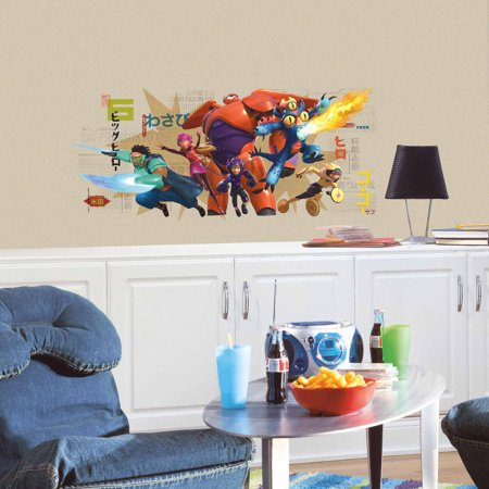 Big Hero 6 Wall Graphix Peel and Stick Giant Wall Decals ()