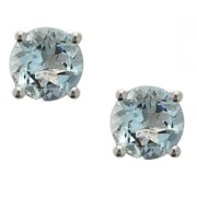 Anika and August  Sterling Silver Aquamarine Stud Earrings