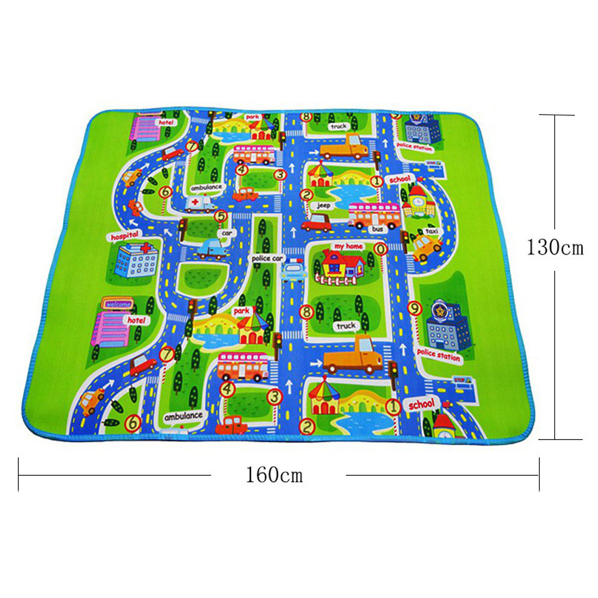 Children Play Mat Baby Playing Crawling Rug Carpet Blanket Kids Toy Traffic City