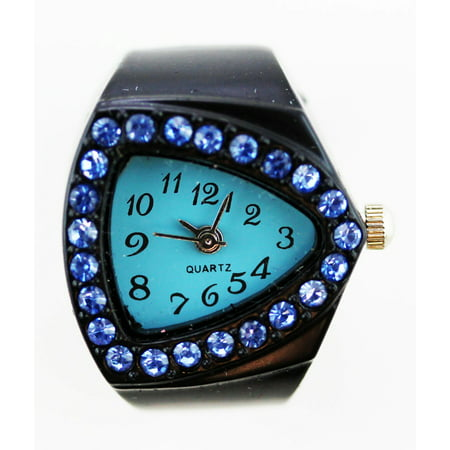 Ring Watch  Black w/ Blue Triangle (Witches Ring)