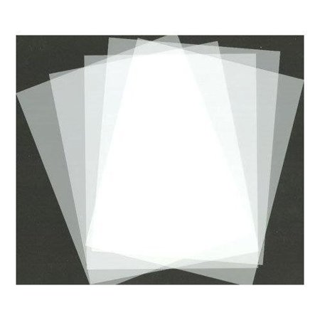 Blank stencil making sheets 8 5 x 11 frosted pack of 10 for Craft plastic sheets walmart