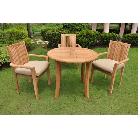 Teak Dining Set:3 Seater 4 Pc -36