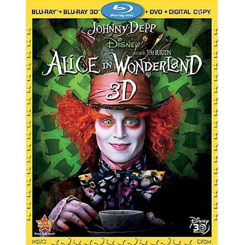 Alice In Wonderland (2010) (3D Blu-ray + Blu-ray + DVD + Digital HD)