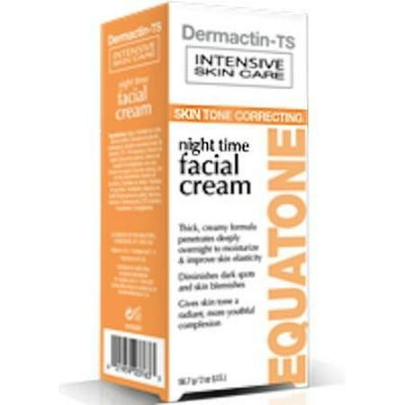 Dermactin-TS Equatone Night Time Facial Cream 2 oz. - Thick & Creamy Formula, Penetrates Deeply Overnight, Moisturizes & Improves Skin's Elasticity, Diminishes Dark Spots & Skin