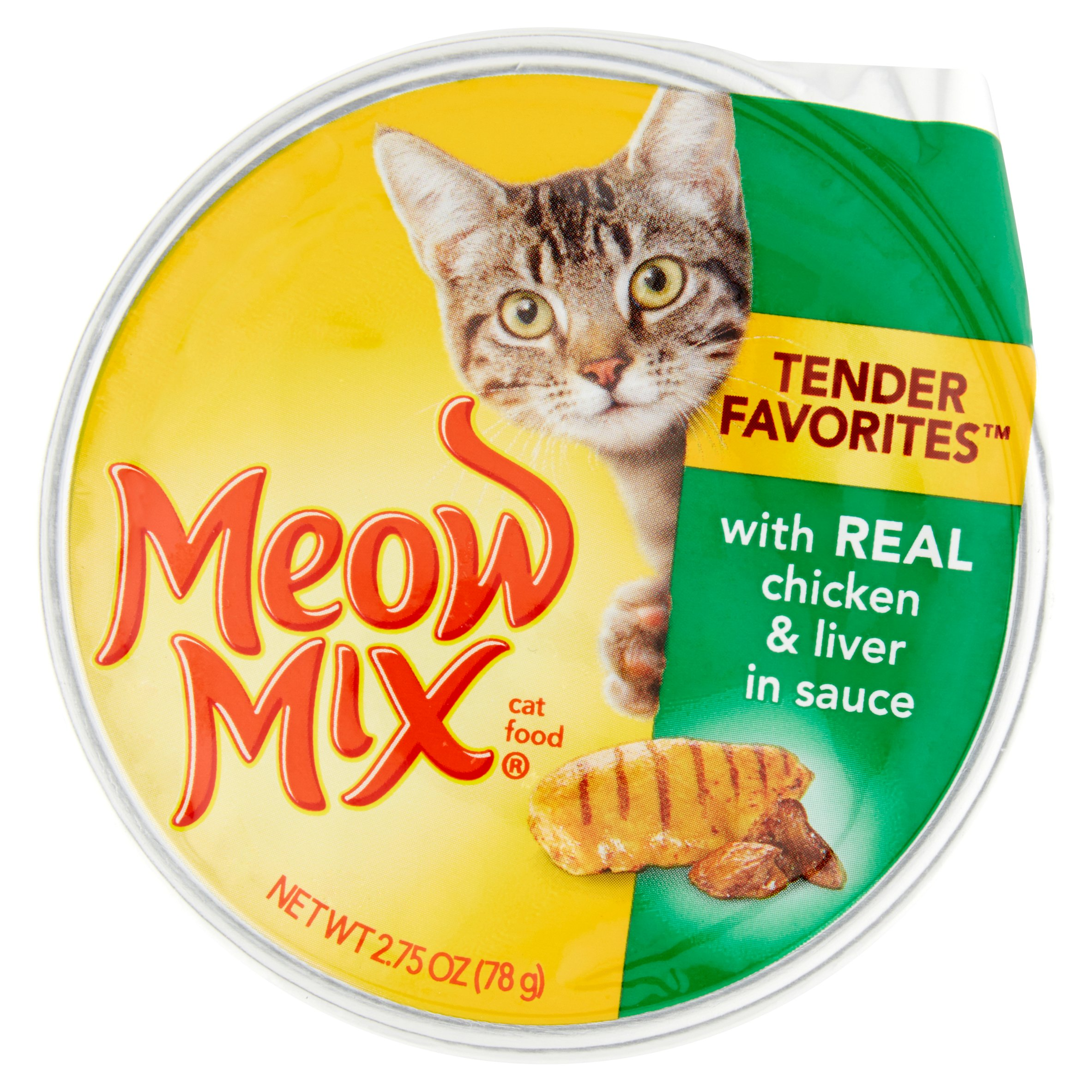 Meow Mix Market Select W/Real Chicken & Liver In Gravy Wet Cat Food, 2.75 oz