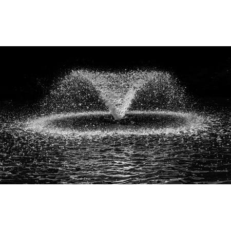Laminated Poster Splash Drop Black White Ter Water Fountain Print 11 X 17