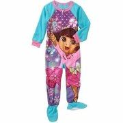Nickelodeon Dora The Explorer Footed Sleeper Pajama Girl Size 5T