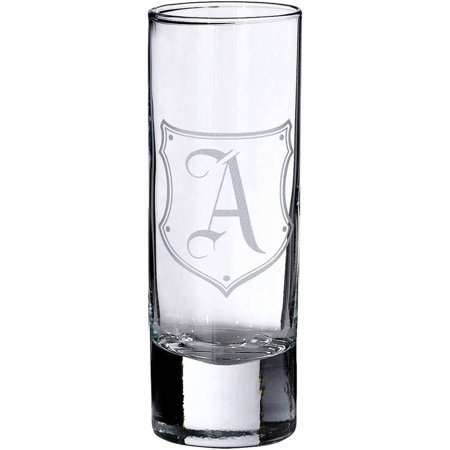 Lillian Rose Single Shot Glass Monogram, A - Personalized Shot Glass No Minimum