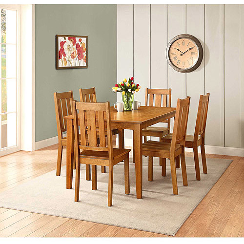 Better Homes and Gardens Bankston 7-Piece Dining Set, Honey