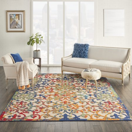 Image of Nourison Aloha Damask Multicolor Area Rug