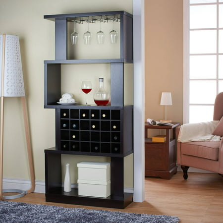 Furniture Of America Umpton Modern 4 Tier Wine Stand Room Divider Cappuccino