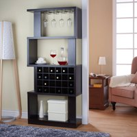 Furniture of America Umpton Modern 4-Tier Wine Stand/Room Divider, Cappuccino