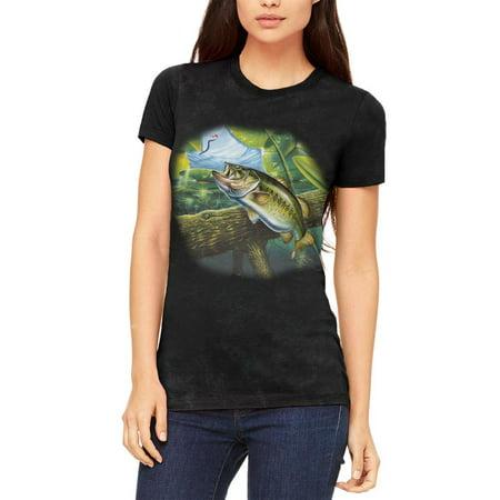 Action Bass Fishing Juniors Soft T Shirt Charcoal Black Triblend 2XL thumbnail