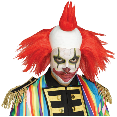 Twisted Clown Red Wig Krusty The Simpsons Costume Klown Halloween Costume