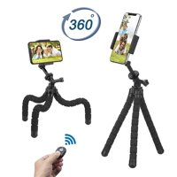 Phone Tripod,Upgraded iPhone Tripod with Wireless Remote Shutter Compatible with iPhone/Android Samsung, Mini Tripod Stand Holder for Camera GoPro/Mobile Cell Phone
