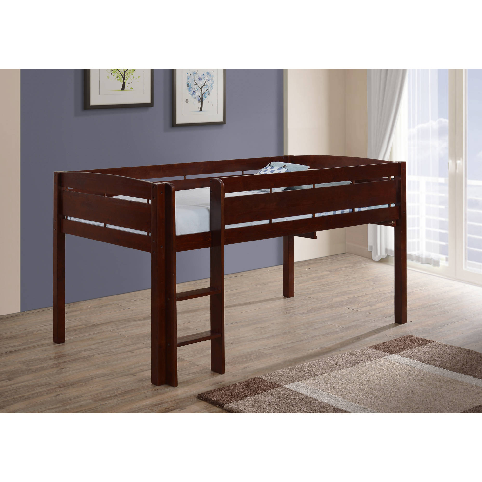 Canwood Whistler Junior Loft Bed-Color:Cherry