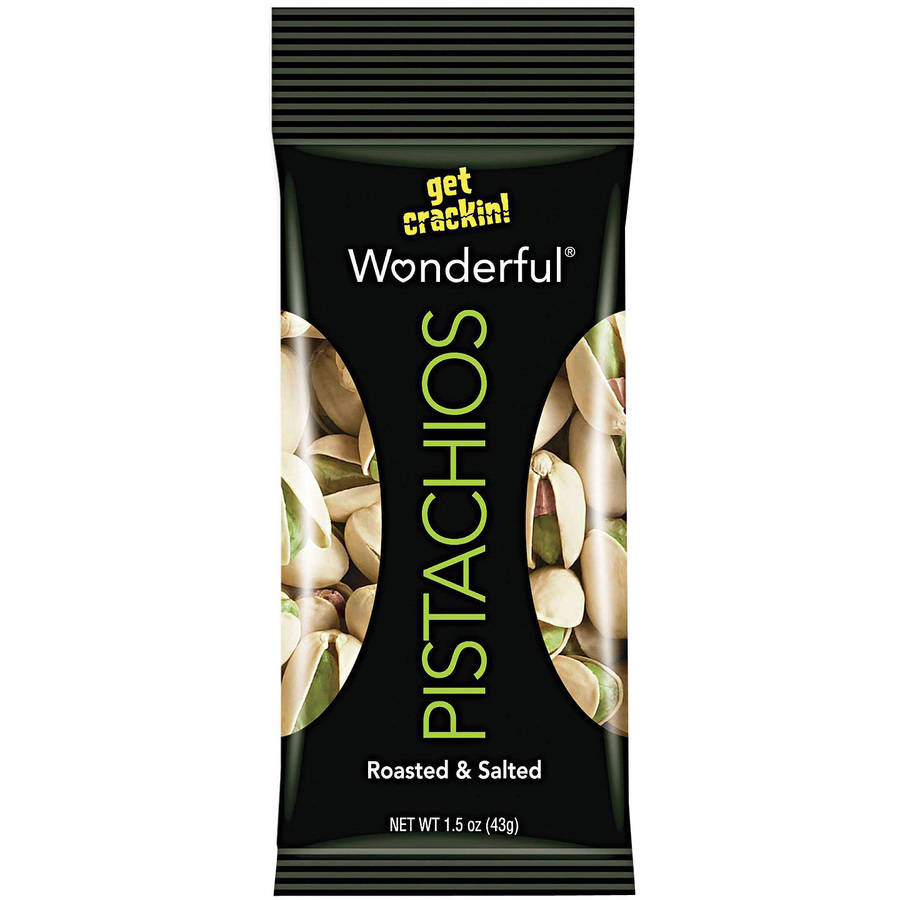 Wonderful Pistachios, Roasted & Salted, 1.25 Ounce (Pack of 12), Multiple Flavors Available