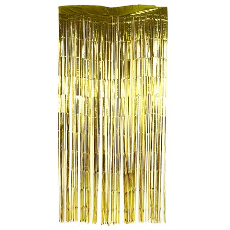 1x2M Metallic Gold Foil Fringe Curtain for Party Window Birthday Wedding Party Door Decorative (Gold Foil Curtain)